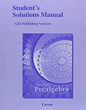 Student Solutions Manual for Prealgebra by Tom Carson (2012-01-06)