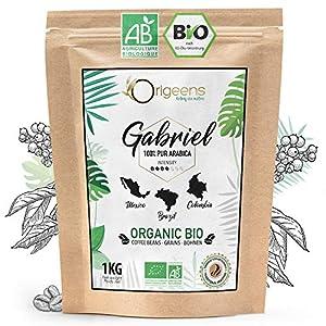 🌱 CAFE EN GRAIN BIO - Le café grain Origeens est certifié agriculture biologique : La culture des grains de café a été faite sans utiliser de produits chimiques pour respecter leur nature et la Nature. Dégustez un café grains au goût préservé et parf...