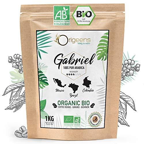 ☘️ BIO Kaffeebohnen 1kg | Biologische Arabica Kaffee Ganze Bohnen | Säurearm | Traditionelle Röstung | Gabriel