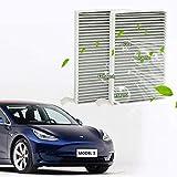 topfit para Tesla Model 3 Filtro de polen de filtro de aire de cabina con carbón activado para Model 3 Paquete de 2