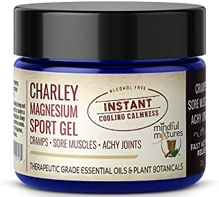 CHARLEY Magnesium Sport Gel (2 oz.) - All Natural, Fast-Acting, Organic Solution for Athletes and Active Individuals that Stops Leg and Foot Cramps on Contact, Soothes Sore Muscles and Achy Joints