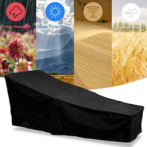 Garten Sunbed Cover Patio Chaise Lounge-Abdeckung mit Air Vent Winddicht Anti-UV Heavy Duty Rip Proof Außenpatio Sonnenliege Abdeckung (208x 76 x 41 / 79cm)