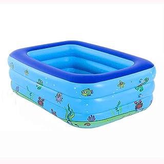 DALL Piscinas hinchables Inflable Piscina para Ninos Juego De Piscina Rectangular Infantil Bebe Engrosamiento Bano Barril Banera Aislamiento Adulto (Size : 150×110×50cm)