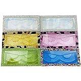 MissWink Diamond Eyelash Case 20 pcs 3D Mink Lashes Packaging Open Window Glitter Base Card Empty Box(Leopard Grain Diamond)