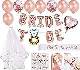 "Junggesellinnenabschied Deko ""Bride to Be"" Roségold"
