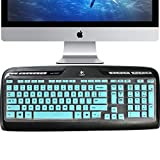 Lapogy Keyboard Cover Compatible with Logitech MK320 K330 MK335 Wireless Desktop Keyboard, Logitech MK335 Accessories, MK320-YR002/Y-R0009 Logitech Wireless Keyboard Protector Skin, Mint