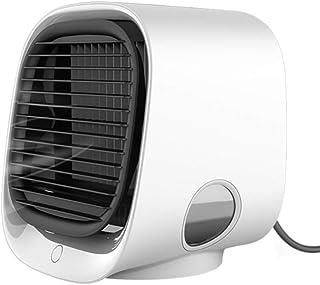 LHWY Aire Acondicionado Portatil Silencioso Móviles Mini Humidificador Ventilador Agua 3 en 1 USB Enfriador de Aire Pequeño Air Cooler Espacio Personal con 7 Color Luz 3 Velocidades Ajustable