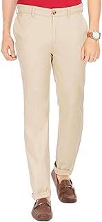 Color Plus Mens 4 Pocket Solid Trousers