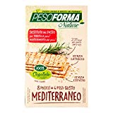 pesoforma nature cracker pasto mediterraneo, 4 pasti sostitutivi dimagranti, 100% vegetale, 8 x 30 g