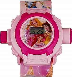 Fashramp Barbie Disney Princess Digital 24 Images Princess Disney Digital Projector Wrist Led Light Watch for Kids Girls &...