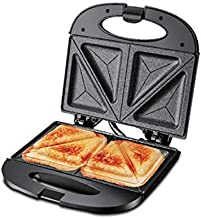 PowerPac Double-sided Heating Electric Sandwich maker with Non-stick coating plate,(PPT353),Black