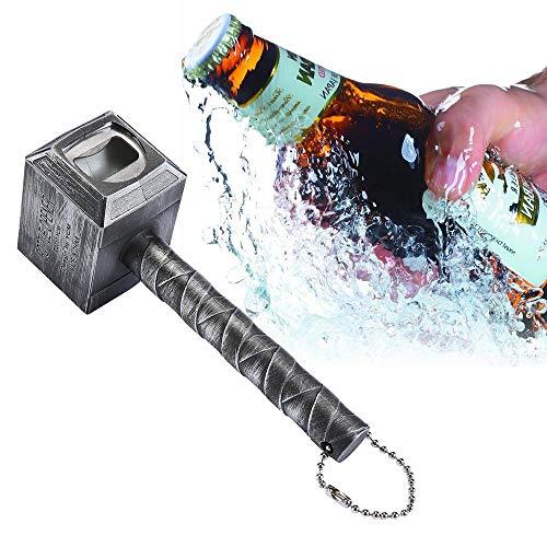 Thor's Hammer Bottle Opener, Mjolnir Beer Bottle Opener for Bar Party BBQ Camping Beer and Marvel Lovers. Thor's Hammer Corkscrew with Magnetic-Bronze_Non-Magnetic