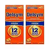 Delsym Adult Cough Suppressant Liquid, Orange Flavor, 5 Ounce (Pack of 2)
