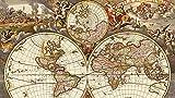 ZBYBGP Rompecabezas para Adultos,Rompecabezas de mapas del Mundo Vintage,Rompecabezas para niños,Juego Intelectual,Aprendizaje,educación,Juguetes,1000 Piezas (75 x 50 cm)