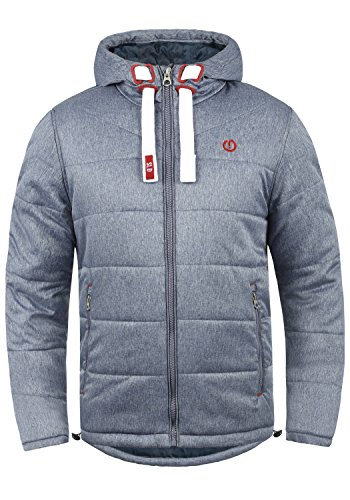 !Solid Bendix Herren Steppjacke Übergangsjacke Jacke mit Kapuze, Größe:M, Farbe:Insignia Blue Melange (8991)