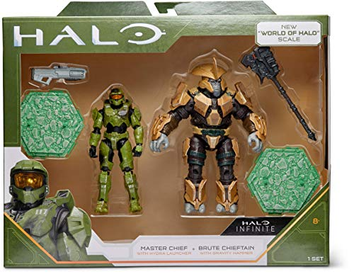 """Halo 4' """"World of Halo"""" Two Figure Pack – Master Chief vs. Brute Chieftain"""