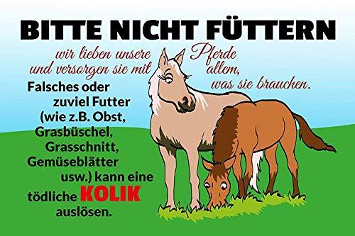 Metalen bord Gelieve niet te voeden! Paard stal koppeling kolik waarschuwingsbord