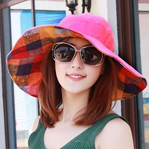 YXLMZ Holiday birthday present Ladies Women Hats Summer Two-Sided Dell Outdoor Visor Cool Hats Pink
