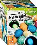 Heitmann It's Magic! Ostereier-Malset - 5 flüssige Kaltfarben + 5 Färbebecher - Zauberstift - Zaubertinte - ab 3 Jahren