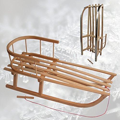 rawstyle trineo de madera con respaldo + Remolcador–Respaldo–Niños trineo–Trineo de madera...