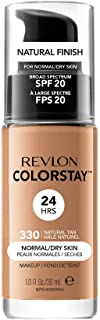 Revlon ColorStay Makeup Foundation for Normal/Dry Skin 30ml, 330 Natural Tan
