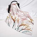 Bufanda de seda blanca de la simulación del collar de las mujeres de los 90Cm bufanda del bolso de las mujeres