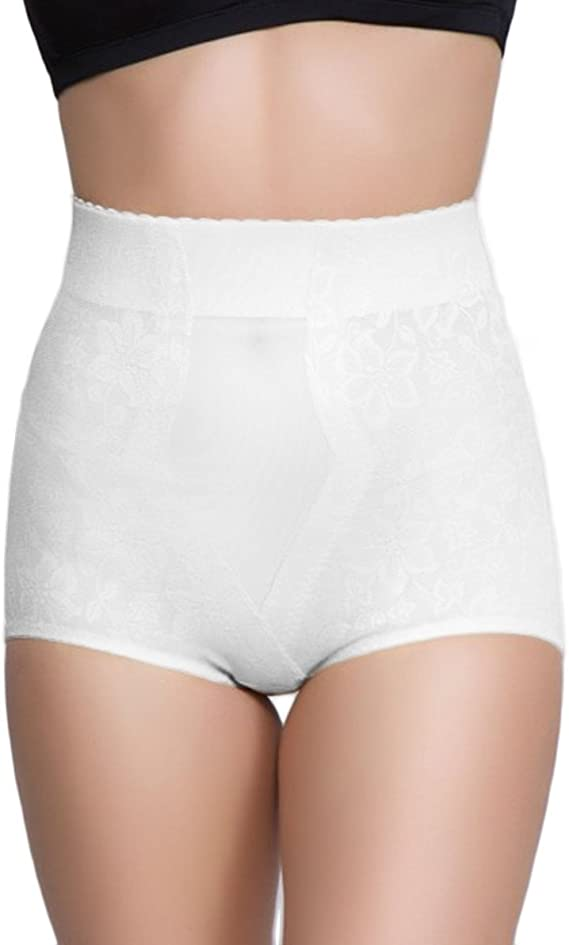 Ladies Knickers Black Jacquard Firm Control Shaping High Waist Full Briefs 10-20