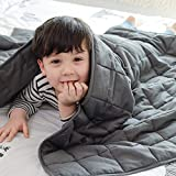 Fabula Life Kids Weighted Blanket (5 lb, 36' x 48') for Kids Weigh Around 40 lbs| Weighted Blanket for Kids| Cotton Cozy Blanket| Calm Deep Sleep