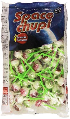 Space chupi - Caramelo con palo de sabores de fruta - 100 unidades