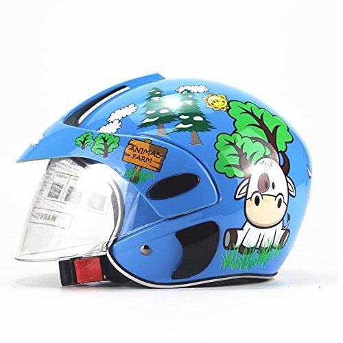 Fiaoen Casco Da Moto Per Bambini, Casco Di Sicurezza Integrale Per Bambini Four Seasons Personalità Per Ragazzine Che Guidano Una Moto Da Pattinaggio