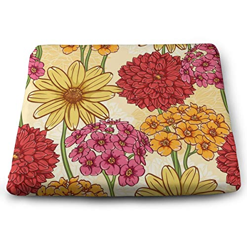 Sanghing Customized Floral 1.18 X 15 X 13.7 in Cushion, Suitable for Home Office Dining Chair Cushion, Indoor and Outdoor Cushion.