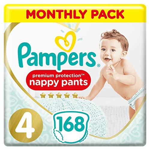 Pampers - Pannolini protettivi di alta qualità, confezione risparmio mensile, delicata sulla pelle nei pannolini