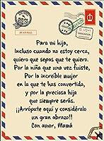 フリースブランケットキルト スペイン語で 息子/娘に 文字を印刷しました 暖まる ベッドスロー 癒しの考え 誕生日おめでとうギフト,To daughter,150*200cm