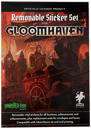 Sinister Fish Games Gloomhaven - Removable Sticker Set - EN,, SIF00020