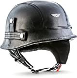 "Moto Helmets D33 ""Leather Black"" · Brain-Cap · Halbschale Jet-Helm Motorrad-Helm Roller-Helm Scooter-Helm Bobber Mofa-Helm Chopper Retro Cruiser Vintage..."