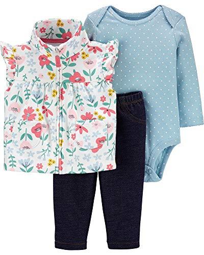 Carter's Baby Girls' 3 Piece Vest Little Jacket Set