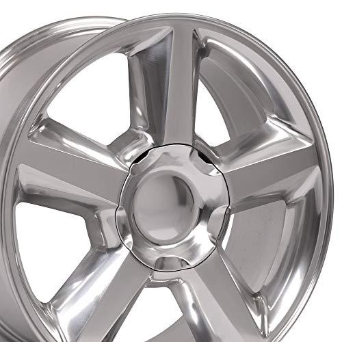 OE Wheels LLC 22 inch Rim Fits Chevy Tahoe LTZ Wheel CV83 22x9 Polished Wheel Hollander 5308