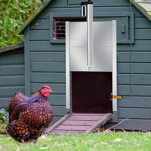 PaNt Automatische Hühnerklappe-Öffner-Kit Öffner & Schließer mit Lichtsensor Controller Hühnertorwter für Hühnerhaus mit Algorithmus und Zeitkontrolle regendicht für den Außenbereich