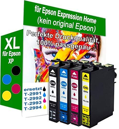 4X XL Druckerpatronen kompatibel für Epson Expression Home XP-245 Premium (kein original Epson