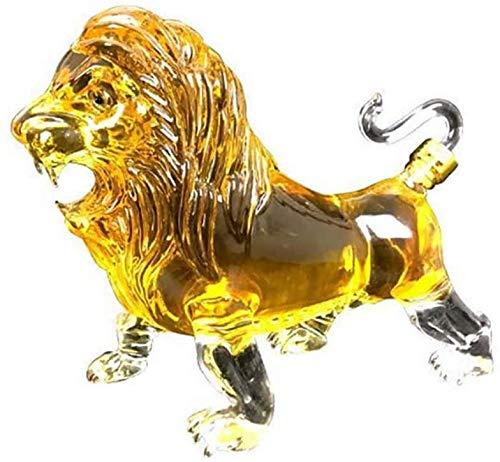 HHORB Decantador de whisky de animales de 1000 ml, creativo, de cristal de diamante, para licor, whisky, ron, bourbon, vodka