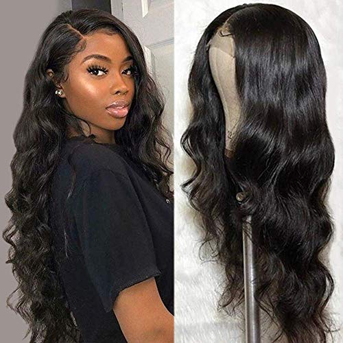 ALLRUN Body Wave Human Hair Lace Front Wigs for Black Women 100% Unprocessed Virgin Hair 4×4 Lace Closure Wigs Pre Plucked with Baby Hair 150% Density (16 inch)