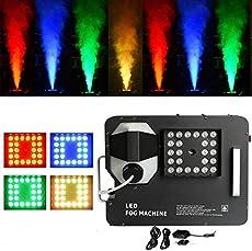Tengchang LED DMX Smoke Fog Machine Stage Lighting W/Remote spray 1500W RGB 3 in 1