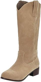 FANIMILA Women Classic Mid Boots Pull On