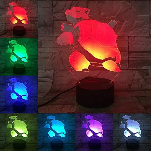 ARXYD Lampe de table veilleuse 16 couleurs Lampe de dessin animé jeu pour animaux de compagnie personnage verre nuit ampoule multicolore enfants cadeau enfant jouet tactile accessoires Lampe Enfant, 3