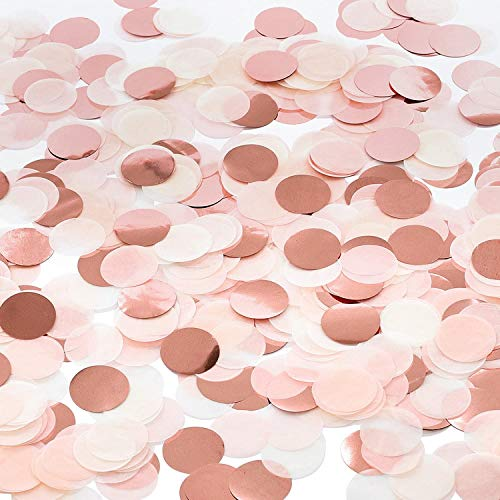 Confeti de Mesa de Papel, DBAILY 200g 2,5cm Confeti de Fiesta de Puntos Redondos para Globos Bodas Cumpleaños Bautizos San Valentín Decorativo (rosa)