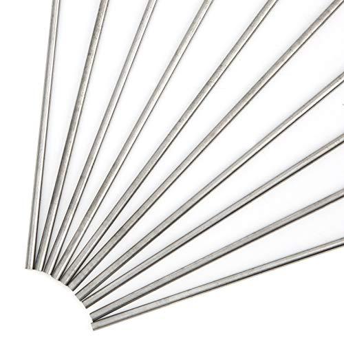 Varilla de electrodos de tungsteno para soldadura TIG, varillas de soldadura de tungsteno TIG prácticas, calentamiento eléctrico, 10 piezas, profesional para aluminio para acero