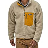 patagonia(パタゴニア) メンズ クラシック レトロX ジャケット Men's Classic Retro-X Fleece Jacket 23056 フリースジャケット (Pelican w/Wren Gold (PEWG), XS) [並行輸入品]