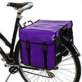 BikyBag - Doble Alforjas para Bicicletas Impermeables (Violetas)