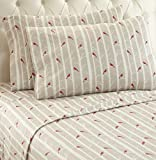 Thermee Micro Flannel Shavel Home Products Sheet Set, Full, Birch