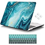 """iCasso MacBook Pro 13 inch Case 2016-2020 Release A2338M1/A2159/A1989/A1706/A1708, Plastic Hard Shell Case with 5 Rows Keyboard Cover Compatible with Newest MacBook Pro 13"""" - River Sand"""